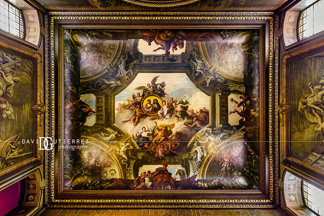 Painted Hall, Old Royal Naval College (II), Greenwich, London, UK