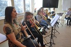 Trombonsektionen i Festivalbrasset