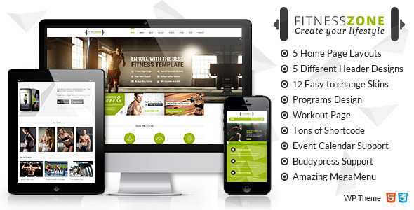 Fitness Zone WordPress Theme free download