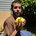 Small photo of Zach with a pomelo