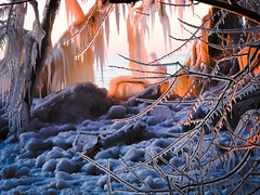 Ice at Sunset