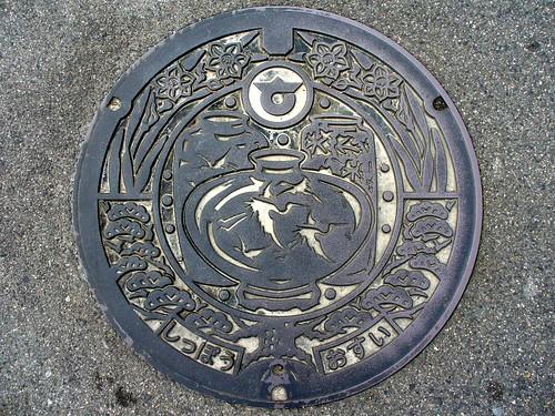 Shippo Aichi, manhole cover (愛知県七宝町のマンホール)