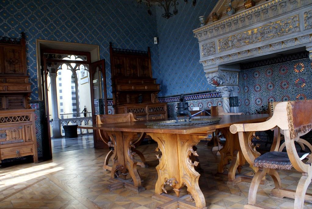 Style éclectique de la Casa d'Ambertis avec une décoration néogothique (néo-médievale si vous préférez), art nouveau et orientale.