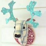 Fabric Deer Head