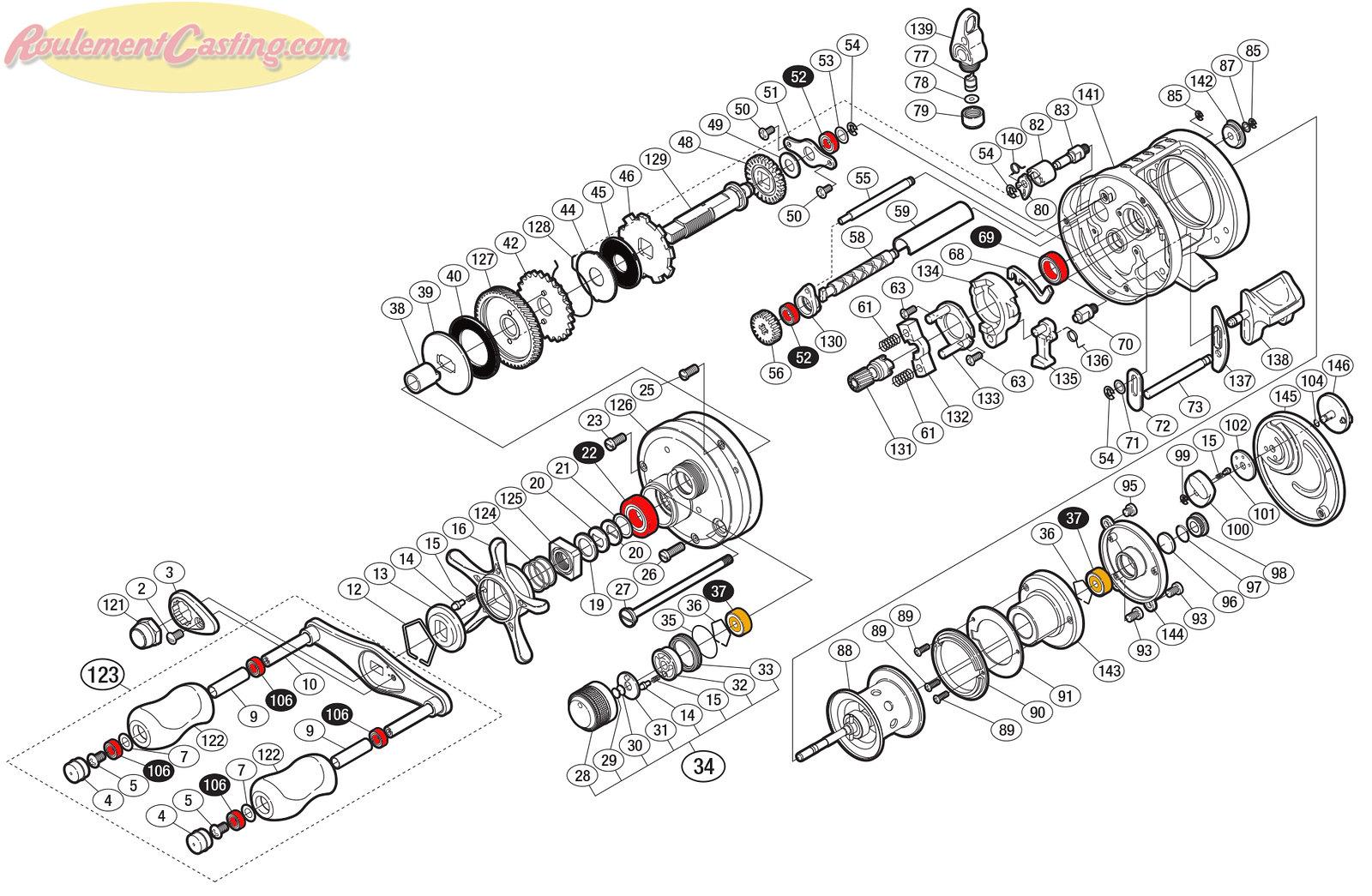Schéma Shimano Conquest 11' 51DC