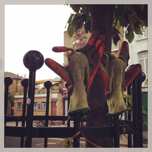 The bin man has lost his gloves #hackney #london #lost