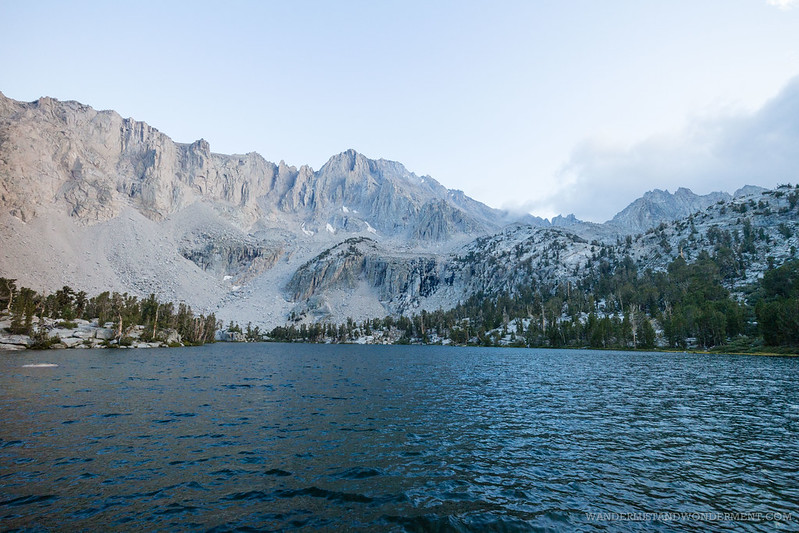 Bench lake in Onion Valley