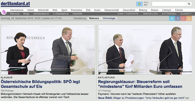 Screenshot DerStandard am 28.9.2014