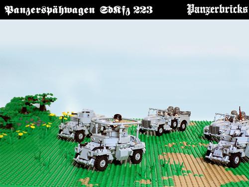 Leichter Panzerspähwagen SdKfz 223 de Panzerbricks