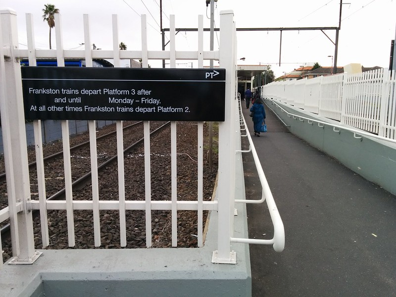 Incomplete signage, Bentleigh station