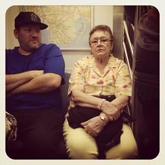 Sunday night 4 train. #nycsubwayportraits #nyc #train #subway #publictransportation #commute #4train