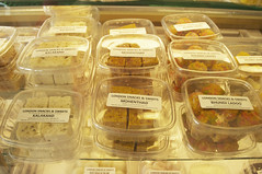 sweets in refrigerated case