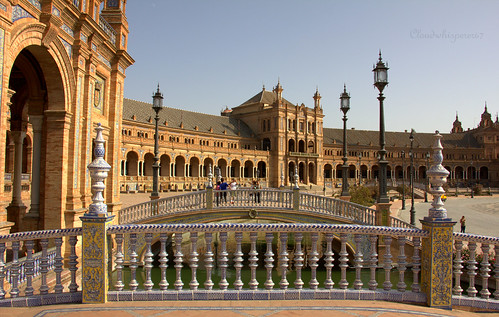 plaza de españa seville center view spain sevilla blue sky bridge splendid sunny sun travel trip scape city town cityscape andalusia andalucia metropol parasol wood wooden architecture great place romantic love lovely light hx9v bleue bleu world from high soleil warm europe europa cloudwhisperer67 cloudwhisperer photography art street life spirit day dream andalousie september 2014 efs18135mm f3556 is stm canonefs18135isstm espana france wonderful arts fun urban journey summer