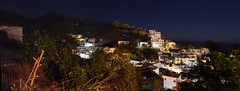 Agios Kirykos village by night-panoramic