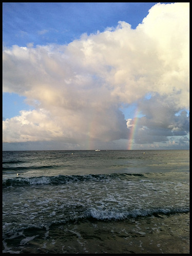 gulfofmexico rainbow skies florida september panamacitybeach iphone 2014 lamarstyle clouuds