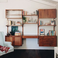 Finally got around to styling our shelving, months after installing it, using things I already owned! (Well, I did buy a frame and a pair of book ends, but that's it!).  It still needs a few little things but I'm really happy with this little nook! #decor