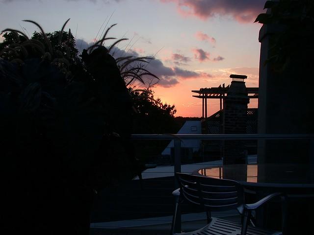 Last September sunset
