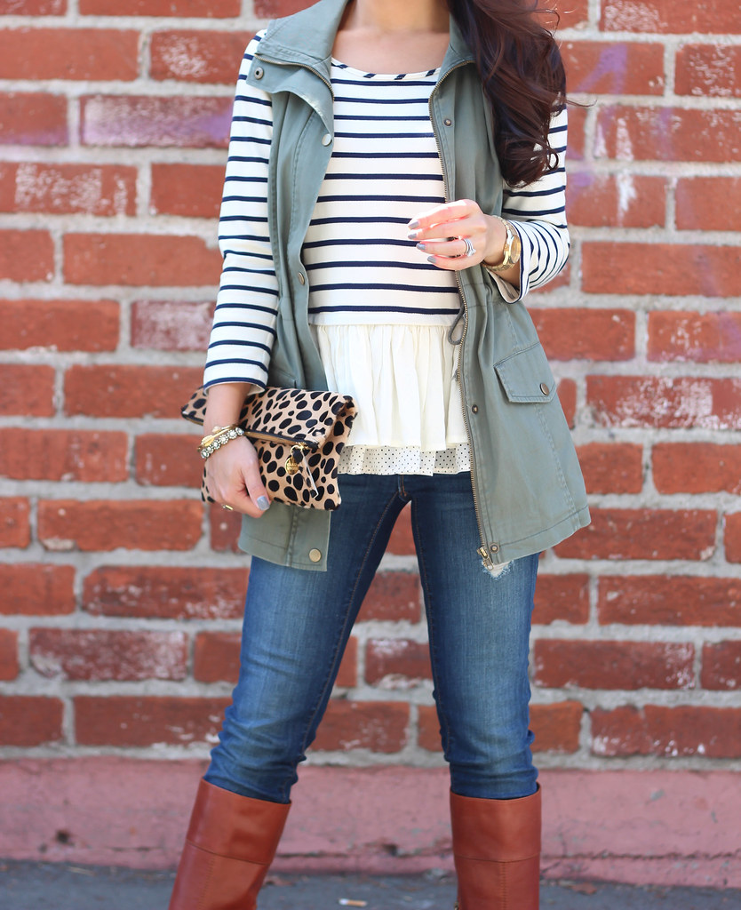 Olive Vest and Stripes-8