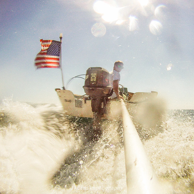 sea, wave, boat, USA, gopro