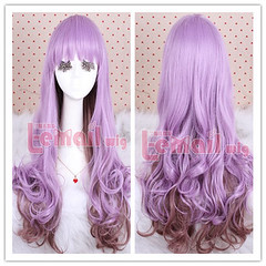 70cm long purple&Taro color Lolita wavy cosplay hair wig ZY42