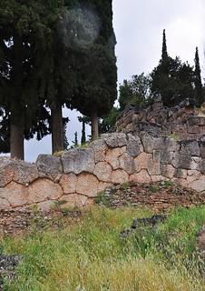 Polygonal wall masonry, ca. 600 BC, Delphi, Greece