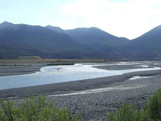 Braided River from the train train