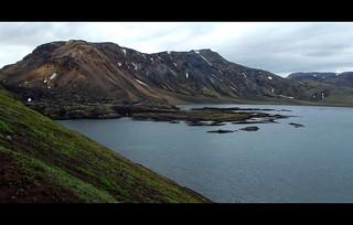 Lava on Frostastaðavatn, Iceland