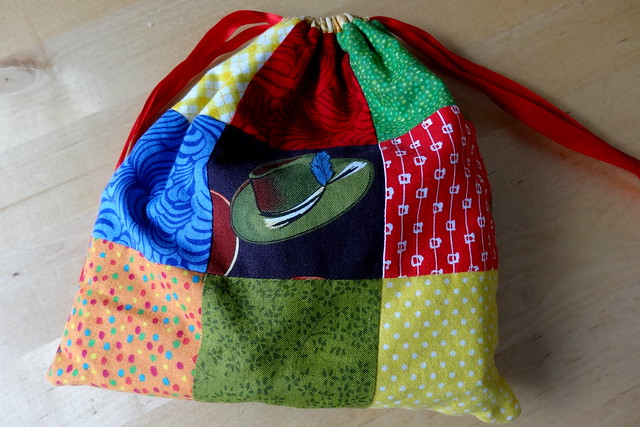 Patchwork Drawstring Game Bag