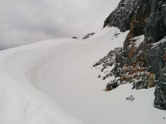 Schneewächte Aufstieg Hoher Weißzint