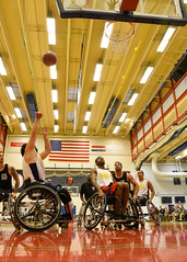 wheelchair sports(1.0), sport venue(1.0), vehicle(1.0), sports(1.0), wheelchair basketball(1.0), basketball(1.0),