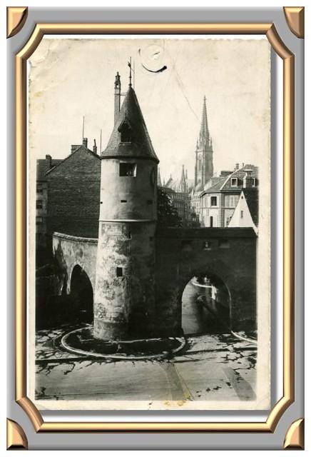 MULHOUSE - Le Bollwerk. Tour Salvator (XIVe siècle)
