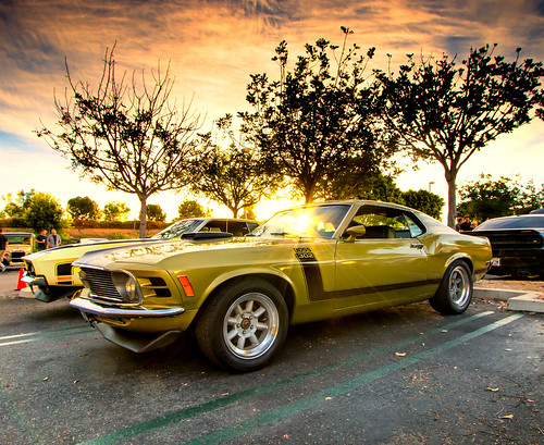 Boss Ford Mustang At Sunrise