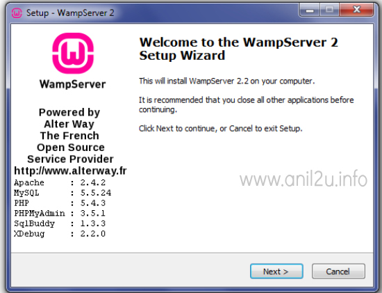 PHP installation procedure in Windows(WAMP) by Anil Kumar Panigrahi