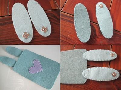 Cách làm bao đựng Điện Thoại bằng vải Nỉ, Dạ | Handmade 4