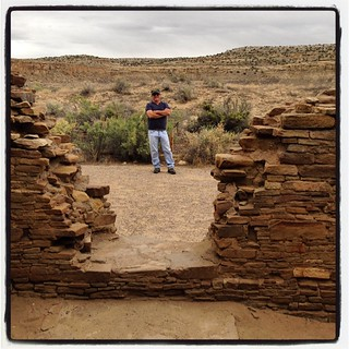 The one. The only. The real deal. My co-pilot at Chaco Canyon. #airstreamdc2cali