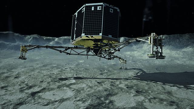 Philae touchdown / Philae setzt auf dem Kometen auf