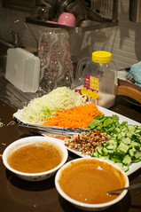 Salad and Peanut sauce