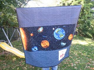 Back of the Supernova Quilt