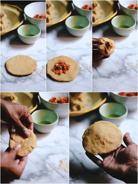 Mini Kimchi Parathas |A Brown Table