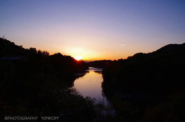 古潭の夕べ1