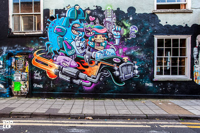 Bristol Street Art Mural painted by The Lost Souls