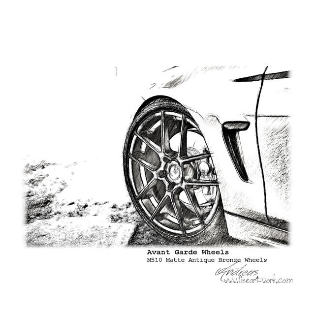 Details Avant Garde Wheel | Pencil Drawing
