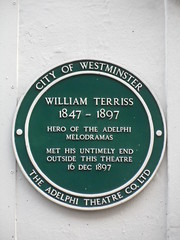 Photo of William Terriss green plaque