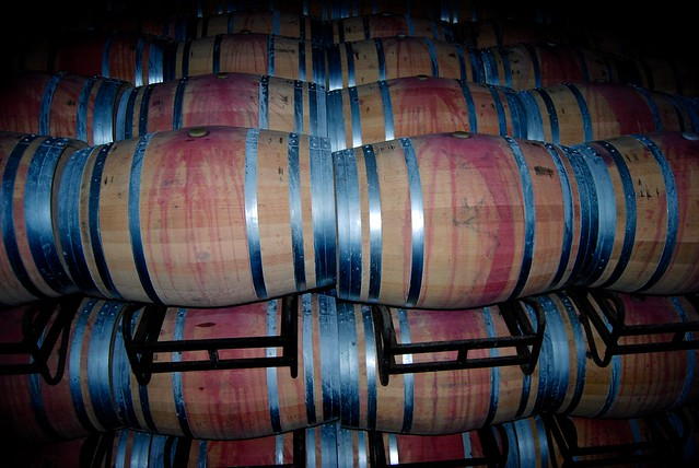 Aging Wine in Oak Barrels at Campo Viejo's Winery