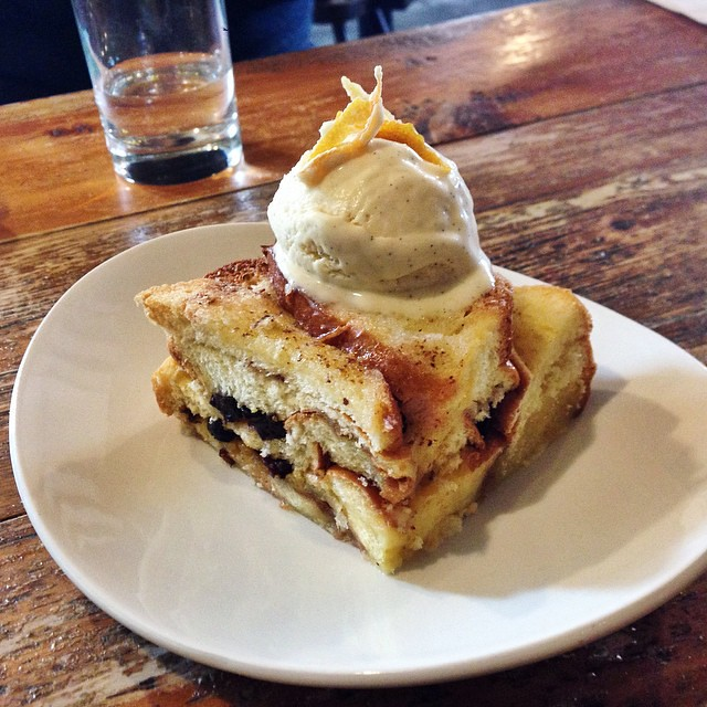 Brioche Bread Pudding with Marmalade & Homemade Vanilla Ice Cream at Salt, Canterbury