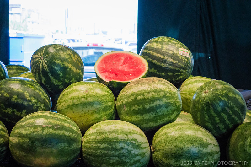 watermelons farmers market ripe pink