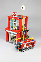 Alternate fire station & truck