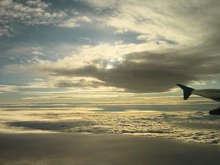 Approaching Santiago de Chile on a flight from Puerto Montt