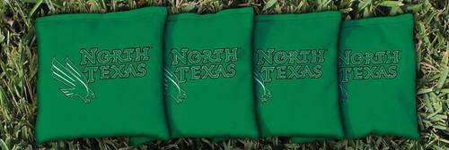 NORTH TEXAS MEAN GREEN GREEN CORNHOLE BAGS