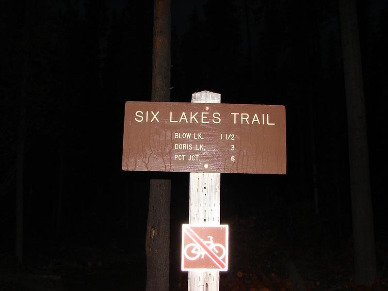 Six Lakes Trailhead